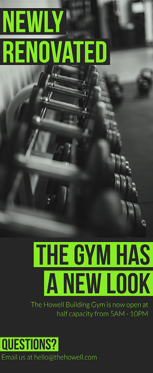 Green Bold Gym Rack Card Rack Card