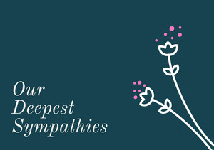 card Carte de condoléances