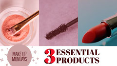 Colorful Essential Products Banner Makeup