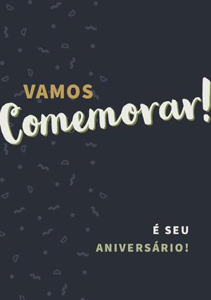 let us celebrate birthday cards  Cartão de aniversário