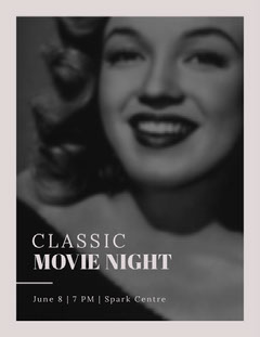 CLASSIC Movie Night Flyer