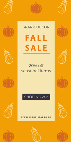 Yellow and White Fall Sale Advertisemnet Fall