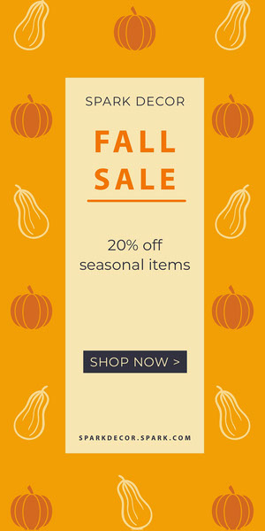 Yellow and White Fall Sale Advertisemnet Advertisement Flyer