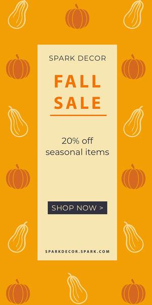 Fall Sale Flyer de anúncio