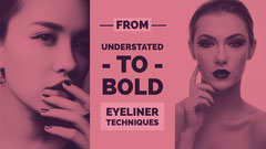 Pink Eyeliner Techniques Advertisement Makeup