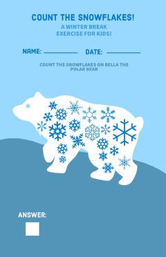 Winter Break Kids Exercise Poster Math