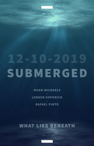 Blue and White Submerged Movie Poster Poster film