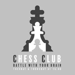 Grey and White Chess Club Instagram Graphic After School