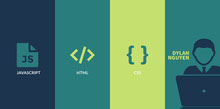 Blue and Green Minimalistic Programmer Facebook Banner Couverture Facebook