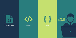 Blue and Green Minimalistic Programmer Facebook Banner Banner LinkedIn