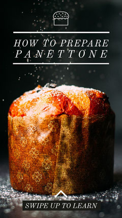 Panettone Winter Recipe Instagram Story Instagram Post