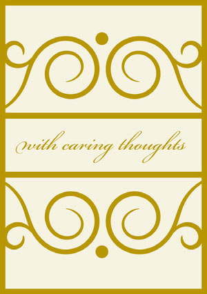 Gold and White Ornate Sympathy Card Sympatikort