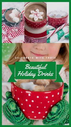 Red and Green Christmas Drink Recipe Instagram Story Celebration