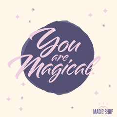 You Are Magical Instagram Square Purple