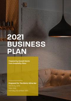 white yellow dark business plan restaurant a4 Business