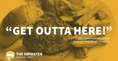 Yellow, White, Funny Burger Restaurant Ad Facebook Banner Burger
