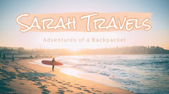 Pink and White Travel Blogger Youtube Intro Blogger