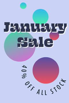 Purple Gradient January Sale Pinterest  Promotion