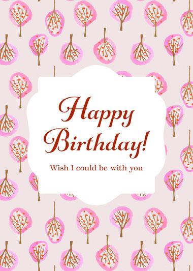Happy Birthday Missing You Classic Card COVID-19-Geburtstagskarten
