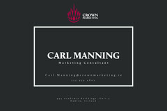 Minimal Crown Marketing Business Card Marketing