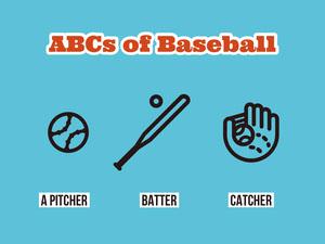 Blue Illustrated Baseball Presentation Slide Presentation