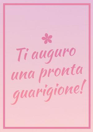 gradients of pink get well soon cards Biglietto d'auguri di pronta guarigione
