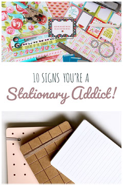 Stationery Pinterest Graphic with Photos Sign