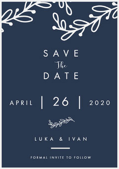 SAVE Rustic Wedding Invitation