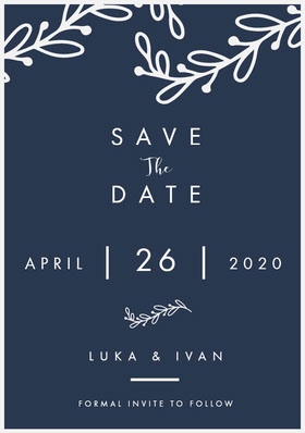 SAVE Save the Date Card