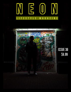 Black and Yellow, Neon, Lifestyle Magazine Cover City