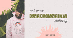 White and Pink Garden Variety Clothing Social Post Garden