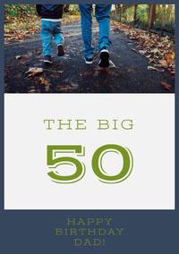 Happy 50th Birthday Card for Father Geburtstagskarte mit Zitat