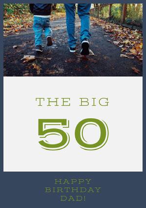 Happy 50th Birthday Card for Father 50th Birthday Invitations
