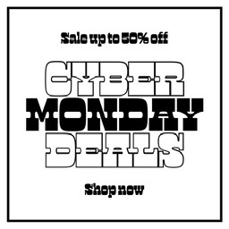 white and black cyber monday deals instagram