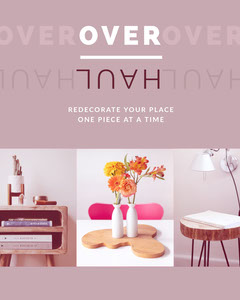 Violet and White Redecoration Social Post Decor