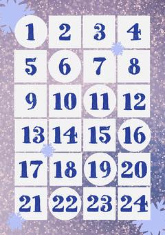 Purple Snowflake Advent Calendar Countdown