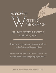 Grey and White Creative Writing Flyer Educational Course