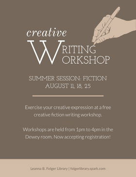 Grey and White Creative Writing Flyer Flyer