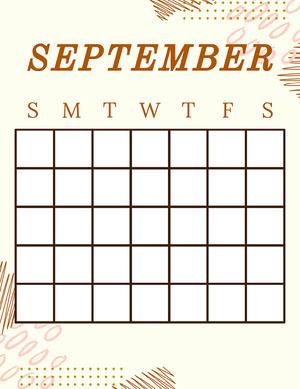 2010s Blank Calendar Kalender
