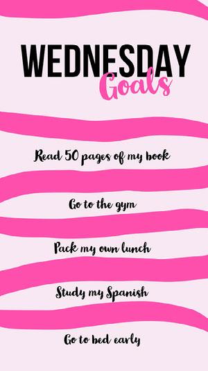 Wednesday Goals Instagram story Goal-Setting Worksheet