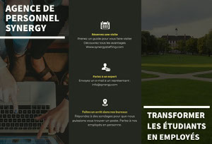 AGENCE DE <BR>PERSONNEL <BR>SYNERGY