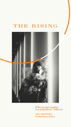 orange black and white photography graduate show instagram story  Gallery