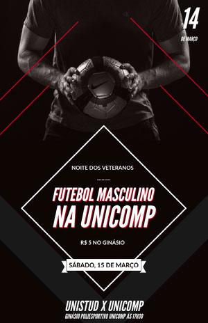 FUTEBOL MASCULINO<BR>NA UNICOMP Folheto