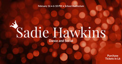 Red Lens Flare School Dance Ad Facebook Banner Dance Flyer