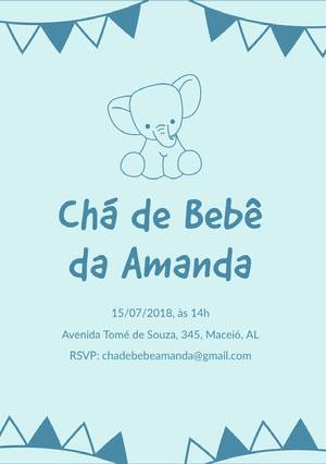 baby elephant baby shower invitations  Convites