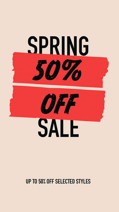 spring sale instagram story  Discount