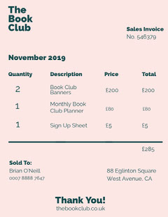 book club business quotation  Business