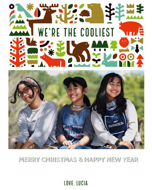 Colorful With Friends Photo Christmas Card Christmas Card Photo