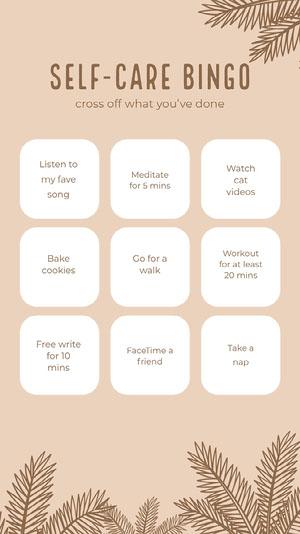 selfcare bingo instagram story Quarantine Bingo Cards