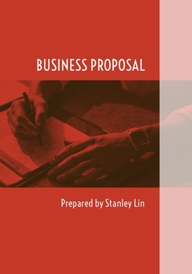 White and Red Business Proposal Forslag